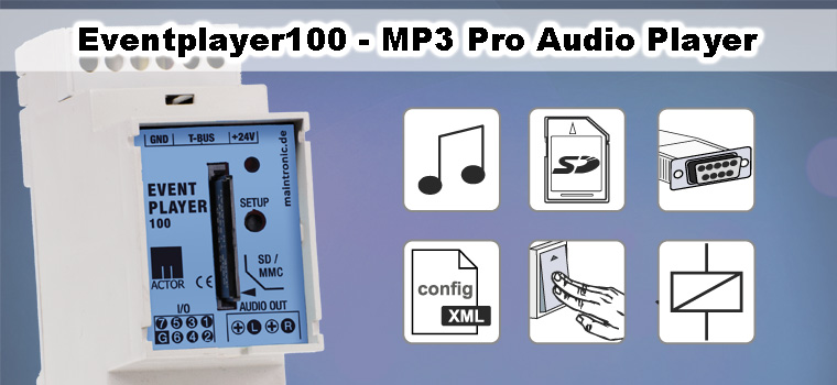 Eventplayer100 - infotainment audio system